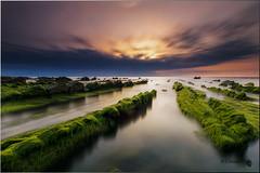 Spring in Barrika (Caramad) Tags: agua longexposure mar sol landscape sunset seascape sea rocks rocas puestadesol olas marcantbrico barrika bizkaia playa ~themagicofcolours~iii