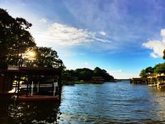 (smithnik477) Tags: sunset lake saturated texas cove wideangle bluesky clearday horizonline gunbarrelcity iphone6s