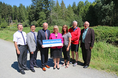 Province provides $7.65 million for Coquitlam dike (BC Gov Photos) Tags: public water river high flooding flood safety coquitlam pitt dike