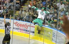 GOAL!! (KaseyEriksen) Tags: goal jump indoor victoria arena lax lacrosse shamrocks feetup qcenter boxlacrosse