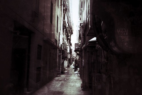 Dark Alley in Hong Kong