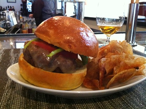 The Angus Beef Burger (with cheese) at VOLT