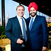 John Jordan of Jordan Winery with hotelier Sant Singh Chatwal, owner of the Dream Downtown