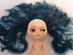 Esmeralda in the tub