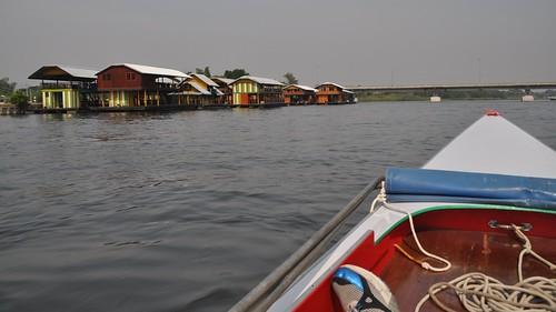bridge water river thailand boat nikon asia houseboat longtail kanchanaburi 2012 d5000 khwaeyairiver