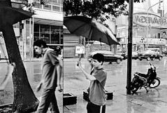 Buenos Aires, Argentina, 2009 (Bruno.T71) Tags: street argentina rain umbrella mirror buenosaires recoleta