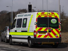 Emergency Responce Service - Renault Master Emergency Ambulance ( PO59 DDE ) (Callum999Pics) Tags: uk blue england station lights britain united great central police 9 kingdom hampshire ambulance renault led master leds southampton emergency ltd triple siren services 999 ers livery dde lightbar responce po59 callum999 callum999vids