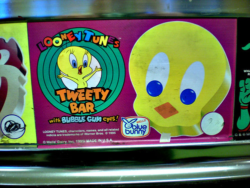 Blue Bunny Tweety Bar Vendor Sticker 1995 A Photo On