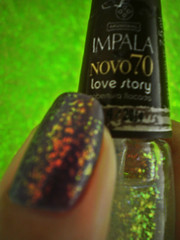 Purple Love Story (kktibinha) Tags: art nail polish nails impala lovestory unhas esmalte flocado