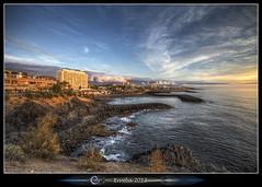 Playa De Las Americas :: Sunset :: Tenerife (Erroba) Tags: ocean canon island coast belgium belgique belgi atlantic tenerife 1020mm erlend canaryislands playadelasamericas 60d siunset playasdelasamericas erroba robaye