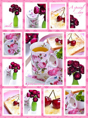 Good morning (Fahad Al-Robah) Tags: morning pink flowers green cup breakfast cherries tea good mint
