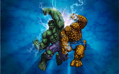 The Hulk vs The Thing_Wallpaper (caffeineandpixels) Tags: wallpaper photoshop comics marvel thehulk theincrediblehulk theavengers thefantasticfour