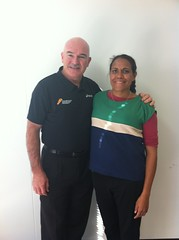 "Two Australian sporting legends - Rob de Castella and Cathy Freeman • <a style=""font-size:0.8em;"" href=""https://www.flickr.com/photos/64883702@N04/7194262878/"" target=""_blank"">View on Flickr</a>"
