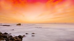 Sunset (Taha Elraaid) Tags: city pink sunset seascape beautiful clouds canon eos golden image mark iii australia hour nsw 5d mm 1740 في taha wollongong | illawarra مدينة ساعة ذهبية canoneos5dmarkiii elraaid ولونجونج tahaphotography tahaelraaid