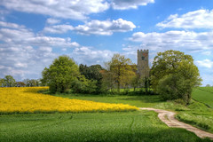 St Botolph Beauchamp Roding, Essex (**Anik Messier**) Tags: road uk england sky tower church countryside fields essex beauchamp rapefield roding stbotolph stbotolphschurch beecham listedgradeii welcomeuk