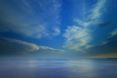 Sea and the sky (ChrisBrn) Tags: longexposure sea sky clouds horizon