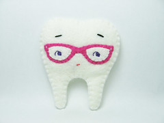 Mr. Nerdy Tooth felt brooch (hanaletters) Tags: bear tooth pin teddy handmade brooch felt etsy hanaletters