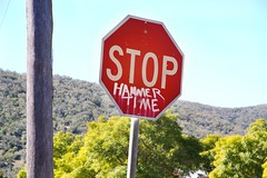 Hammertime (ABC Open New England North West) Tags: stop hammertime abcopen:project=signs easttamworth