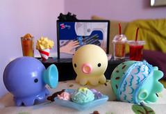 Takochu Sleepover (dejavoodoo_) Tags: party food toy toys miniature slumber mini popcorn kawaii octopus rement sleepover takochu