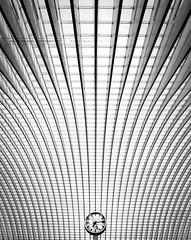 Time line - Calatrava (Lige Guillemins) (JD Photographie.) Tags: santiago light sunset white black art clock colors lines station architecture digital canon photography 1 julien exposure raw photographie belgium belgique belgie time gare top curves escalator line fave explore 200 calatrava rails 100 24mm jd curve 500faves dri franais hdr linear lige blending wallonie belge flyaway wallonia delaval 100faves guillemins 200faves 40d 300faves wallons 400faves canon40d mygearandme mygearandmepremium mygearandmebronze mygearandmesilver mygearandmegold mygearandmeplatinum jdphotographie