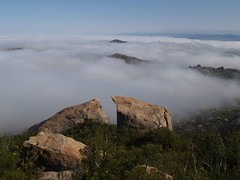 106 Hills of Ramona sticking out above the clouds (_JFR_) Tags: cloud hiking boulder mount ramona woodson woodsonmountain mountwoodson mtwoodson