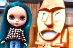 laguna (cybermelli) Tags: alexis beach hair island sweater doll long factory teal jeans denim blythe montauk custom emerald rbl