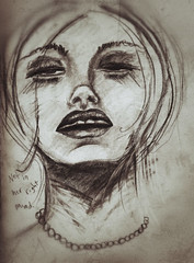 not in her right mind (heathermariecarr) Tags: woman sketch drugs 2012 heathercarr xe3ep heatherunderground