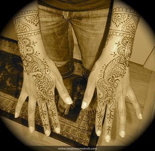 Simple wedding mehndi