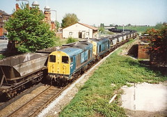 Class 20s 20016 & 20081 - Warrington (dwb photos) Tags: warrington chopper diesel railway locomotive 20016 20081