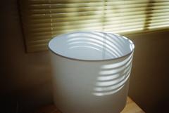 (M.Raines) Tags: fuji rangefinder blinds superia400 lampshade fijifilm magichour olympusxa warmtones