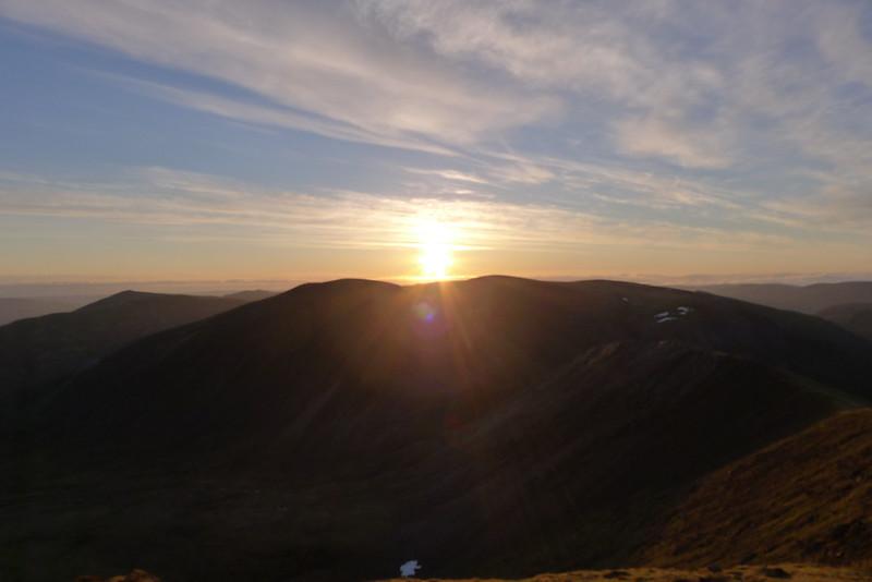 Sunrise over Aonach Beag