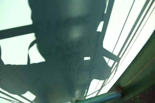 Water tower dust graffiti