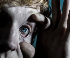(.Lianne) Tags: blue white eye photography 50mm weird nikon hand skin surrealism surreal pale creepy eyeball d3100