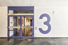3rd Floor (GregoireC - www.gregoirec.com) Tags: white building berlin architecture modern canon germany office violet plattenbau dri tempelhof gesundheitsamt 5dmarkii tse17mmf4l