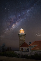 Barrenjoey Lighthouse (Jingshu Zhu) Tags: lighthouse stars landscape nightshot sony sydney australia nightscapes barrenjoey milkyway astrophography