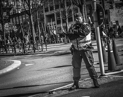 Authority (Henka69) Tags: street bw monochrome gteborg candid gothenburg police streetphoto