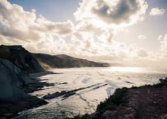 Beach Colours (Diego R. Photography) Tags: sunset sea sky sun mountain beach water clouds landscape twilight sand lands