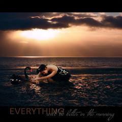 Everything will be better in the morning ... (jinterwas) Tags: sea ballet photoshop manipulated swan ballerina sad photoshopped zee blackswan mii zwaan zwartezwaan droevig