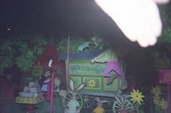 Knott's Bear-y Tales (jericl cat) Tags: bear camp forest dark design close ride tales character 1987 fair frog blacklight 1970s gypsy attraction roaring closure knotts 20s darkride beary berryfarm rollycrump