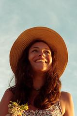 Someraj (Eleonora Sacco   Pain de Route) Tags: flowers summer portrait girl smile hat island spring mediterranean tuscany giglio esperanto tirreno