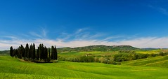 Val d' Orcia Landscape (jfusion61) Tags: morning trees sky italy panorama green clouds spring nikon san d val tuscany fields cypress siena 2470mm orcia quirico d810