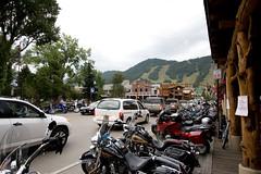 resort town (brianficker) Tags: street urban car jackson skiresort motorcycle rockymountains wyoming mountainwesttrip07