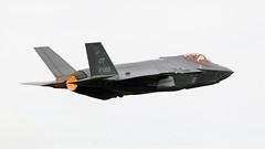 Dutch F-35 Lightning II. (spencer.wilmot) Tags: aviation f35 lightningii afterburner airplane aircraft rnlaf militaryaviation takeoff departure grey airbase airshow leeuwarden klu f35a lockheedmartin jsf plane jet fighter f002 ot