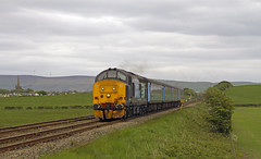 37409,Haverigg (56074 Kellingley Colliery) Tags: tractor west train coast over bank rail class highland preston 37 sands carlisle grange services barrow direct foxfield kirkby furness kents drs cumbrian 37409 37402 37401 kingmoor