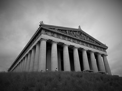 classic (vfrgk) Tags: blackandwhite bw classic monochrome lines architecture tn nashville geometry tennessee landmark athens lookingup lookup parthenon replica greece classical littlepeople pillars majestic impressive magnificent imposing fascinating