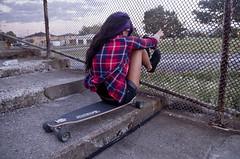IMGP9111 (Aka Cam) Tags: girl hair 9 converse skate sector puple longboarding