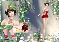 Carol G - Flowers & Bird Cage (Rehana MiSS SLVietnam, Face of CHOP ZUEY 2015) Tags: fashion truth secondlife laboheme rehana carolg newrelease maitreya slink astralia posesion applemaydesigns chopzuey rehanaseljan