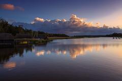 Sunrise (Petra R.) Tags: sunrise wasser himmel wolke landschaft sonnenaufgang prerow mecklenburgvorpommern dars flussufer bootshuser