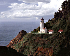 Sunny Heceta Head Lighthouse 0438 (Photographer Paul Peck Strength in Perspective) Tags: lighthouse oregon