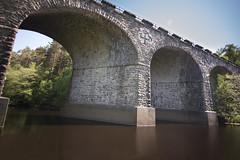 Kielder viaduct (JW.Andrews) Tags: park uk travel bridge england water speed train river stream long exposure slow viaduct northumberland national shutter kielder